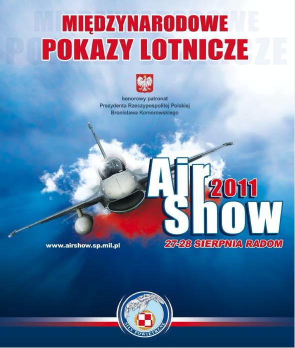 Oficjalny plakat Air Show Radom 2011 rok