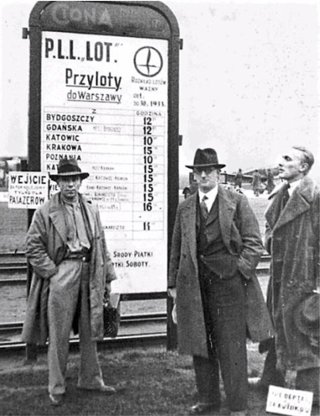 Lotnisko Mokotów. Warszawa 1933 rok. Zdjęcie LAC