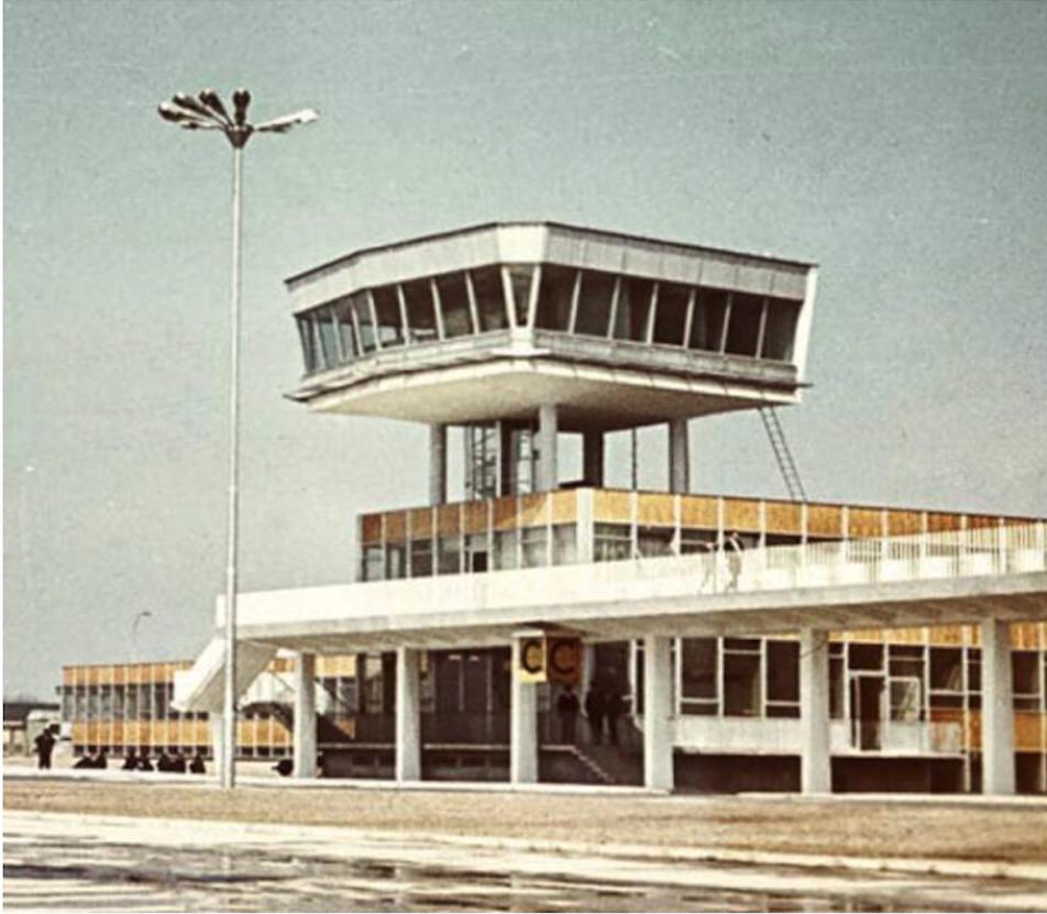 Wieża na Okęciu. 1970 rok. Zdjęcie LAC