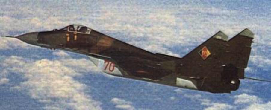 MiG-29 nb 70 NRD 1991 rok. Zdjęcie LAC