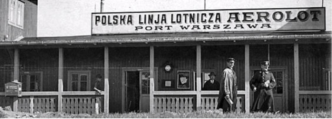 Lotnisko Mokotów, dworzec. Warszawa 1926 rok. Zdjęcie LAC