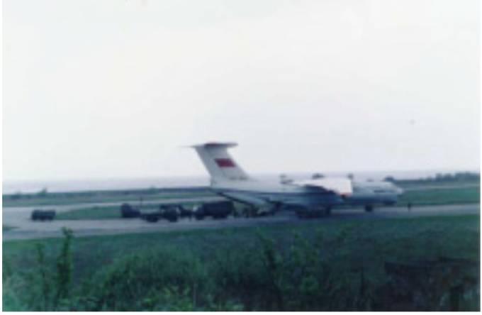 Ił-76 w Bagiczu 1992r.