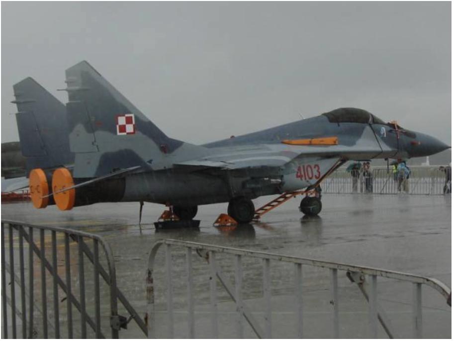 MiG-29 nb 4103 pokazany w Krzesinach w dniu 26.06.2007r.Zdjęcie Karol Placha Hetman