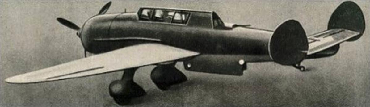 PZL-46 Sum. Samolot ten przygotowano do produkcji seryjnej w PZL Mielec. 1939 rok. Zdjęcie LAC