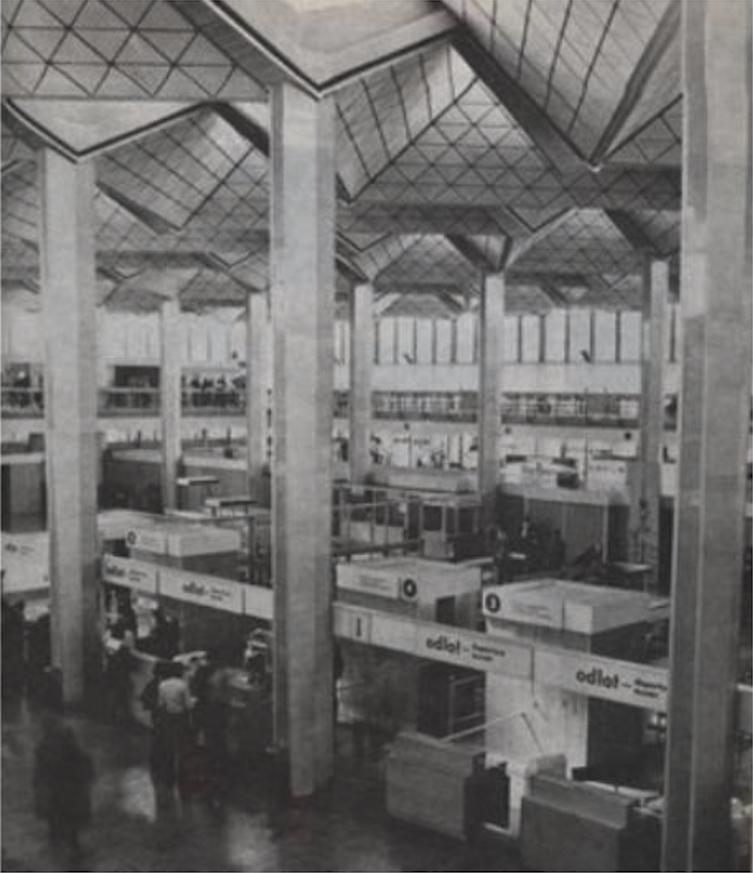 Wnętrze MDL Okęcie. 1975 rok. Zdjęcie LAC