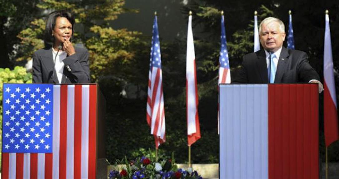 Sekretarz Stanu USA Condoleezza Rice i Prezydent Rzeczypospolitej Lech Kaczyński. 20.08.2008r. Zdjęcie LAC