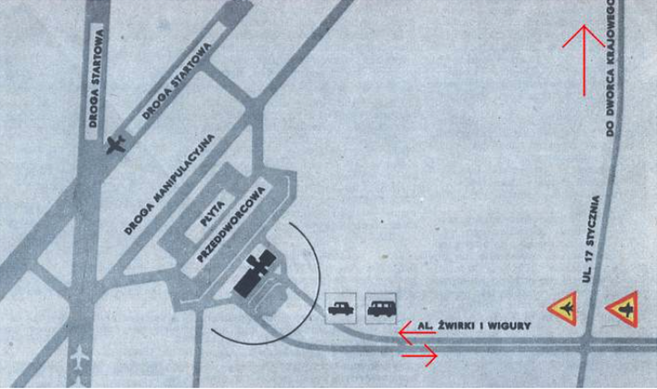 Plan MDL Okęcie. 1969 rok. Zdjęcie LAC