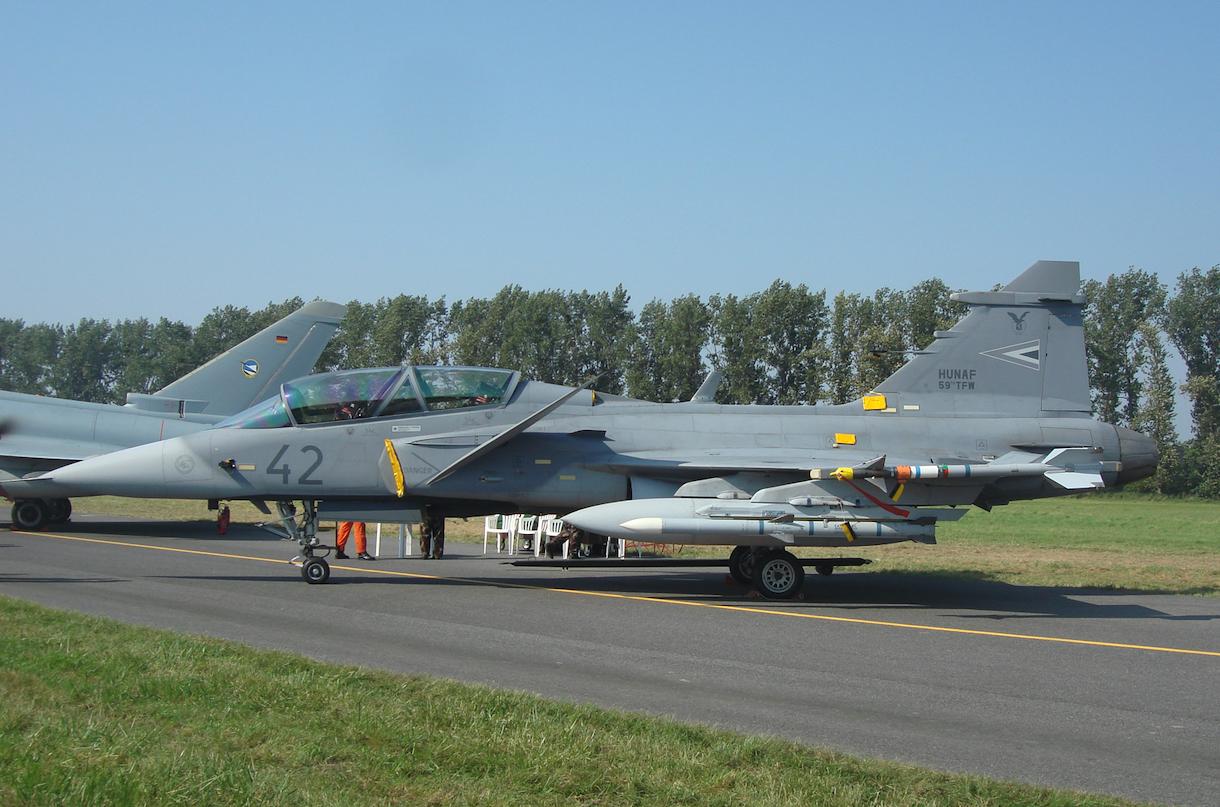 JAS-39 D Gripen nb 42. 2011 rok. Zdjęcie Karol Placha Hetman