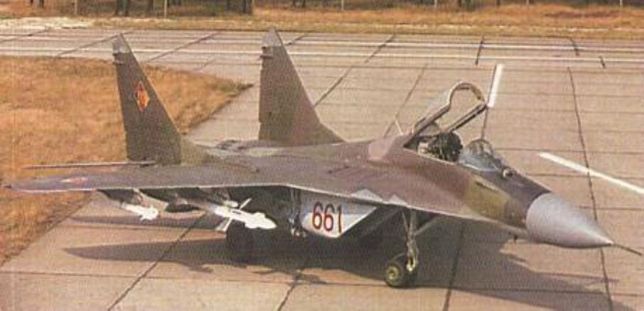 MiG-29 nb 661 NRD. 1991 rok.Zdjęcie LAC