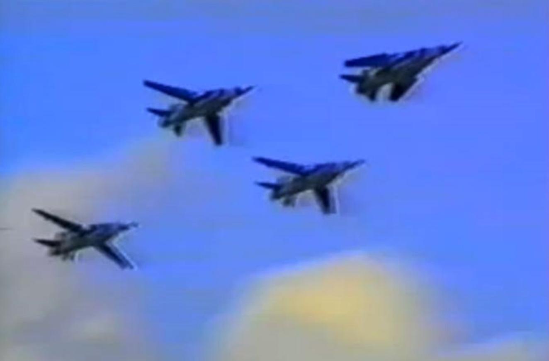 MiG-23 MF Ławica. Kiepskie zdjęcie, ale historyczne. 1991 rok. Zdjęcie LAC