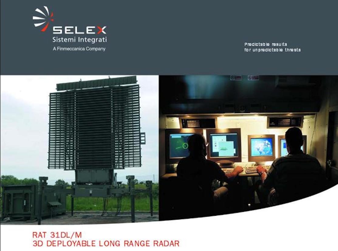Reklama Stacji Radiolokacyjnej RAT-31 2014 rok. Zdjęcie Selex