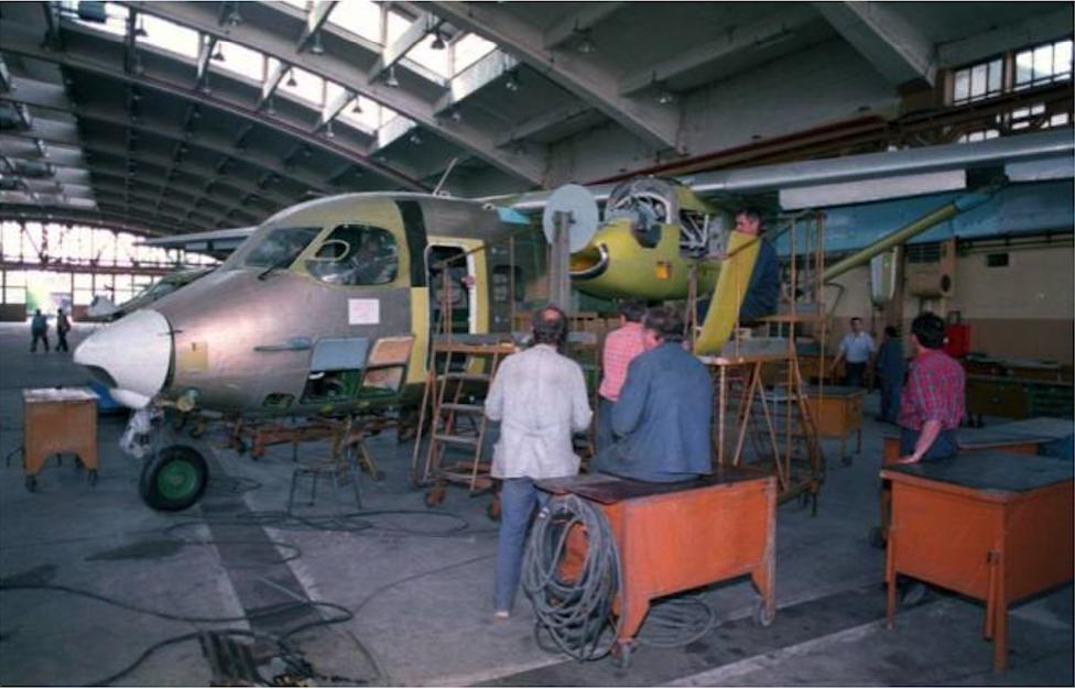 M-28 podczas produkcji w PZL Mielec. Zdjęcie PZL Mielec